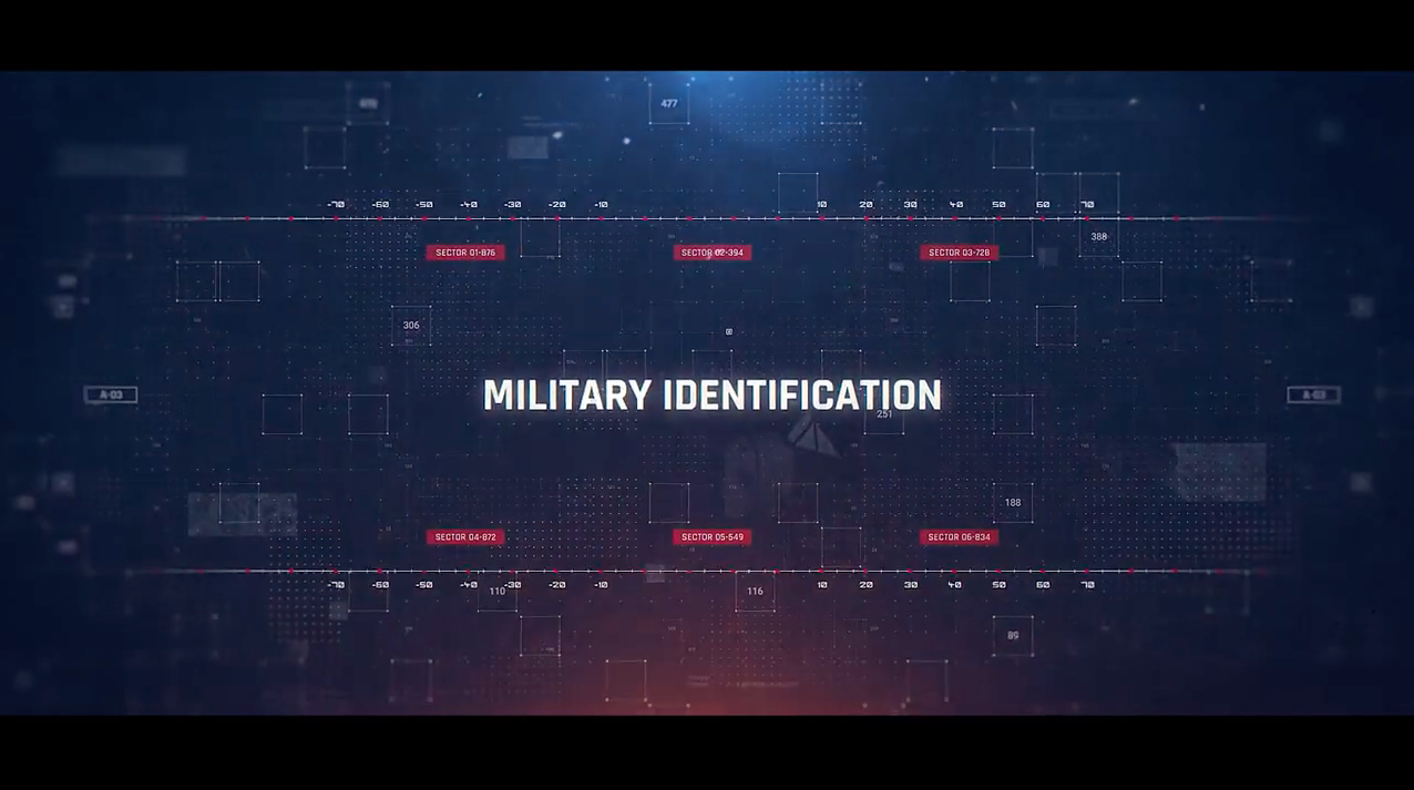 AE模板-数字科技感军事HUD包装展示 Military Identification