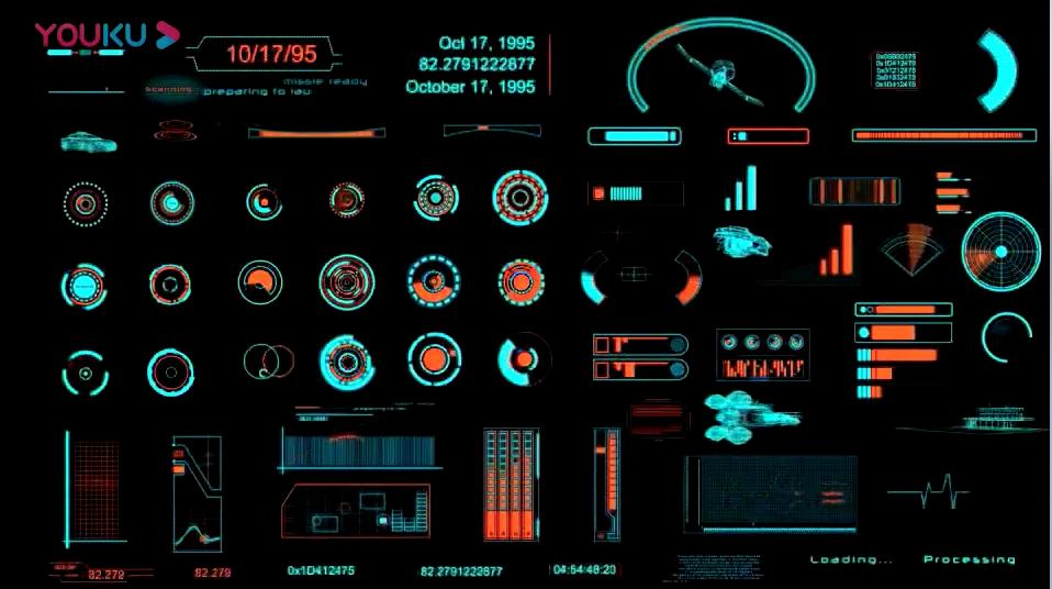 AE模板-111种科技感HUD信息数据元素动画包 The HUD Builder