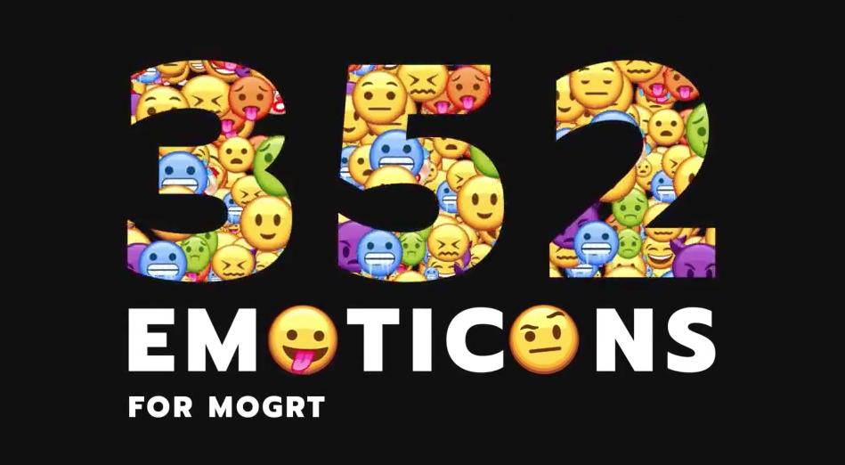 PR模板/AE模板-352个社交聊天可爱Emojis表情动画包 Emoticon – Animated Emojis Pack