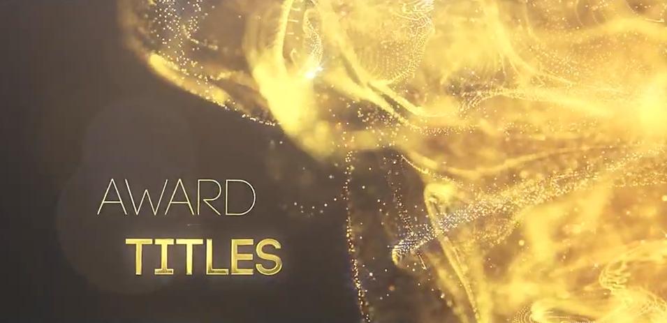AE模板-金色抽象粒子背景文字标题片头 Golden Partilce Titles