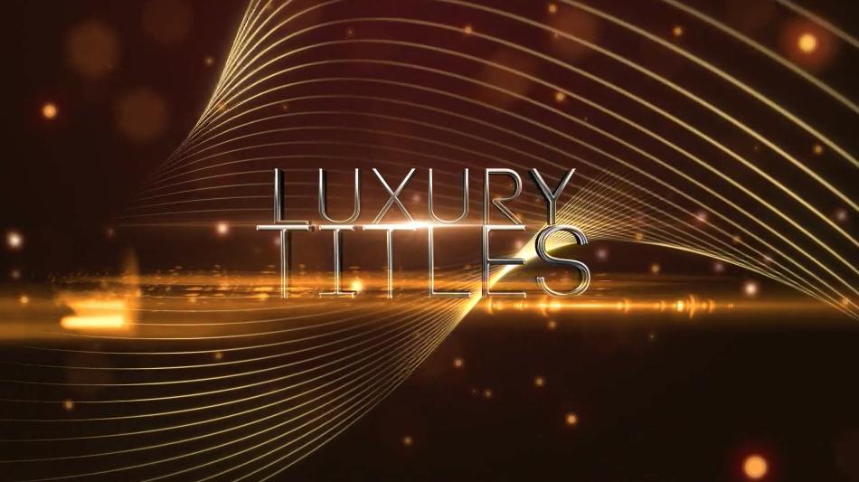 AE模板:优雅线条光效粒子文字展示 Elegant Luxury Titles