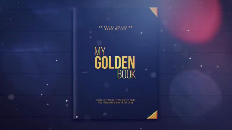 AE模板-唯美光斑电子相册展示 My Golden Book