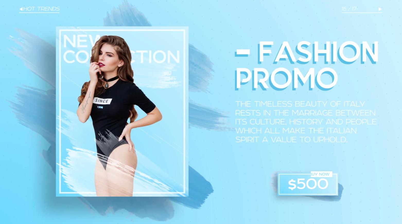AE模板:时尚流行宣传包装 Fashion Market