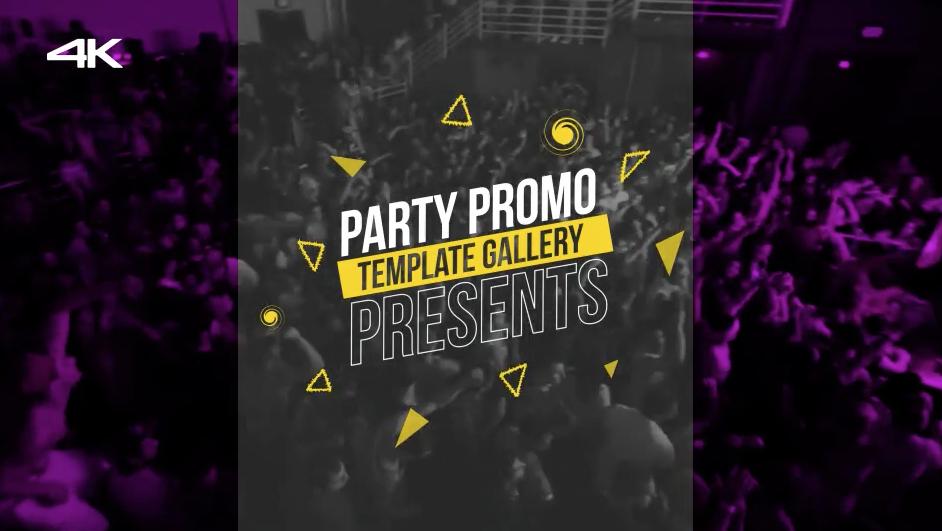 AE模板:动感炫酷活动聚会爬梯栏目包装宣传效果 Party Promo