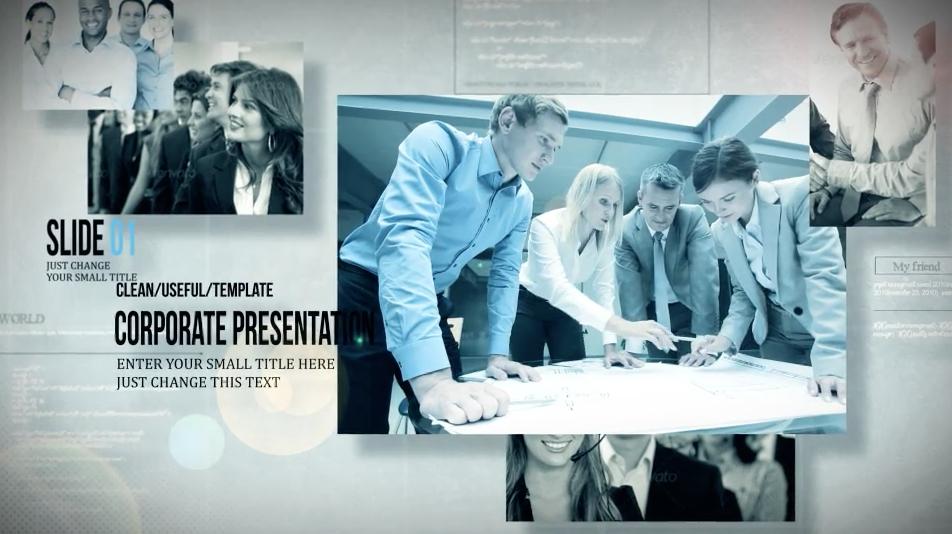 AE模板:公司企业宣传介绍图文三维空间摄像机动画展示