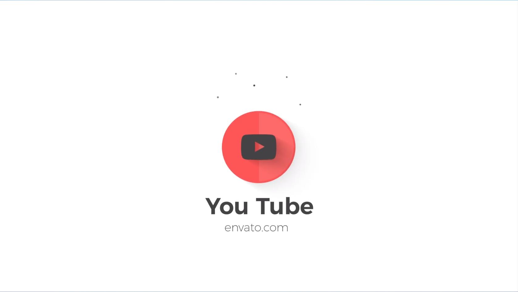 AE模板:MG弹跳小元素迷你LOGO片头动画 Clean Minimal Logo