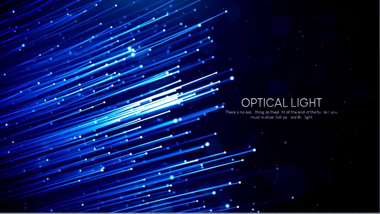 AE模板-漂亮细腻的粒子光线发射生长文字标志展示开场 Optical Light Inspiring Titles