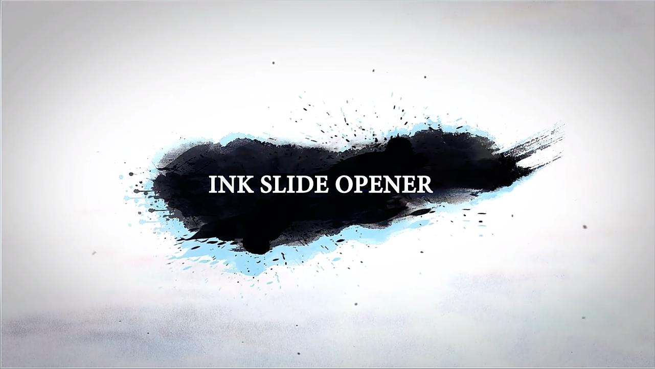 AE模板-中国风彩色水墨滴落溶解图文介绍开场片头 The Ink Opener